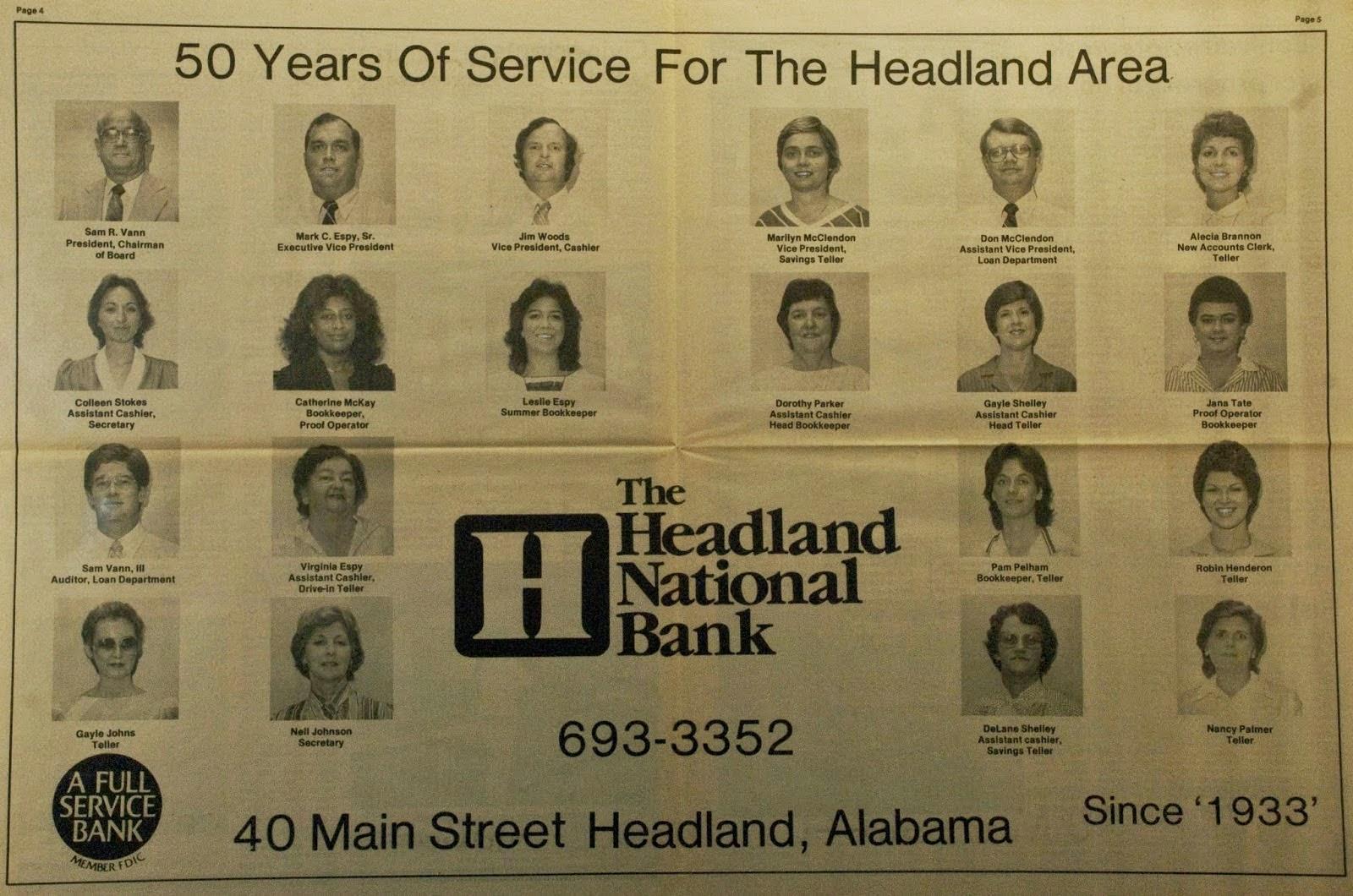 Headland National Bank turns 50