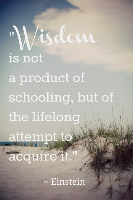 Wonderful quote about Wisdom fro Albert Einstein