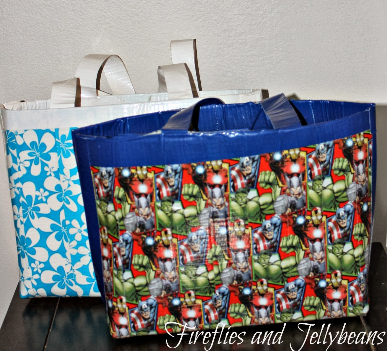 Fireflies And Jellybeans Duck Tape Trick Or Treat Bag