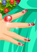 Новогодний маникюр - Онлайн игра для девочек