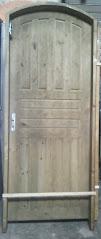 porta em arco madeira ecologica medida 82 x  2,10