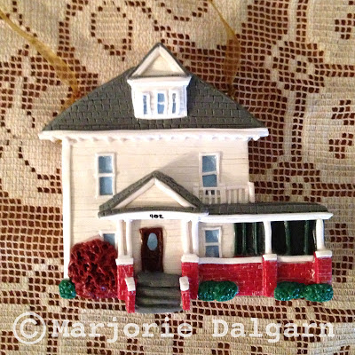Custom Polymer Clay House/Home Ornaments by Marjorie Dalgarn 3moonbabies.etsy.com