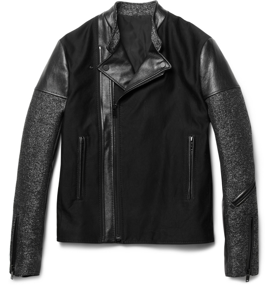 00O00 London Menswear Blog Balenciaga Panelled Slim Fit Biker Jacket as seen on Usher in London La Bodegra Negra October 15th 2012