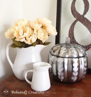 Pottery Barn Etched Mercury Glass Pumpkin Knock Off @ bebeandj.com