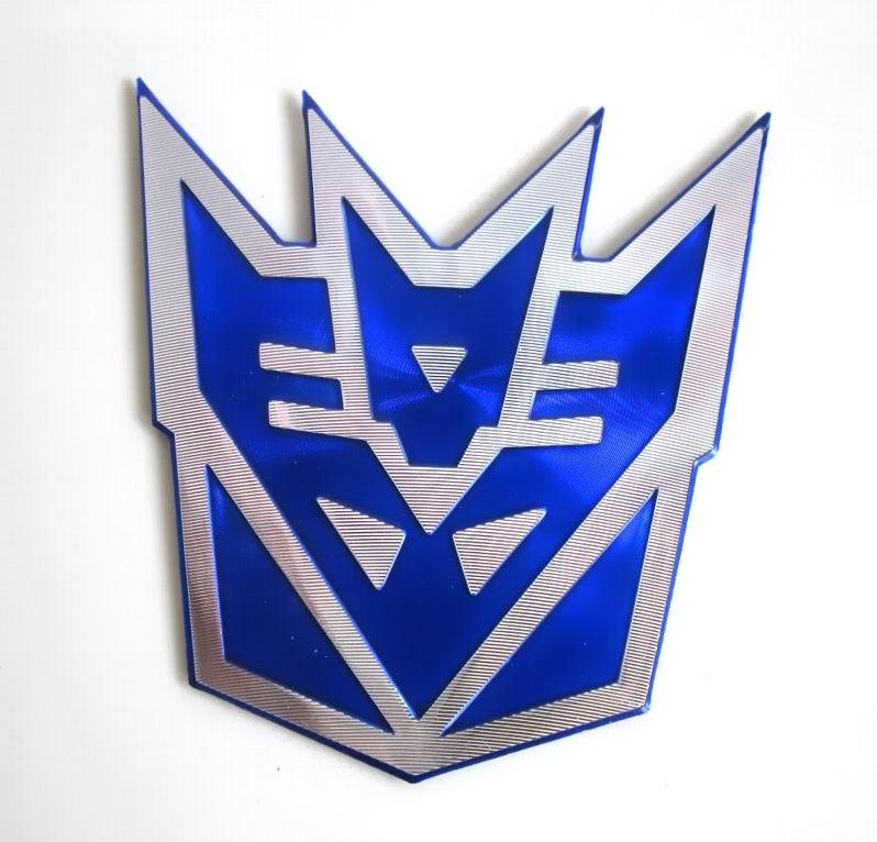 robot art transformers emblem symbol blue decepticons