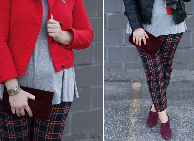 How to wear plaid pants for the holidays