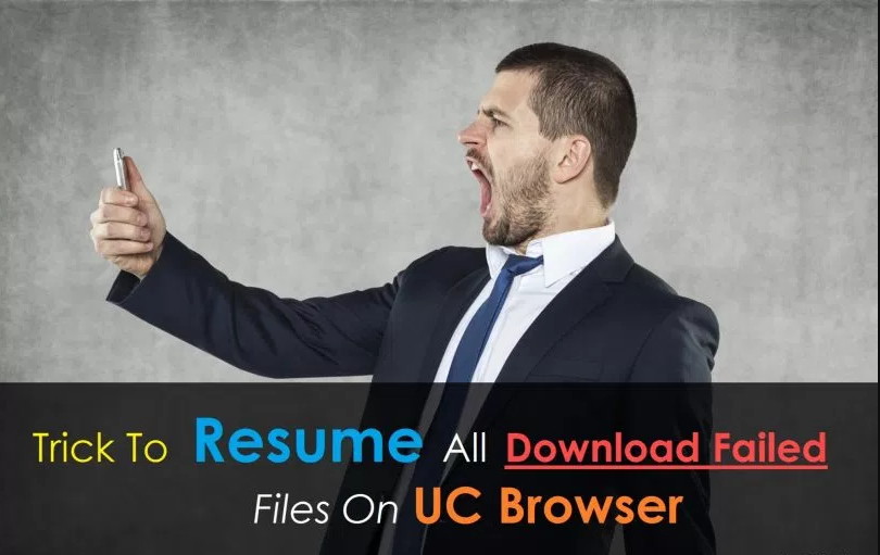 how to resume uc browser expired failed links in