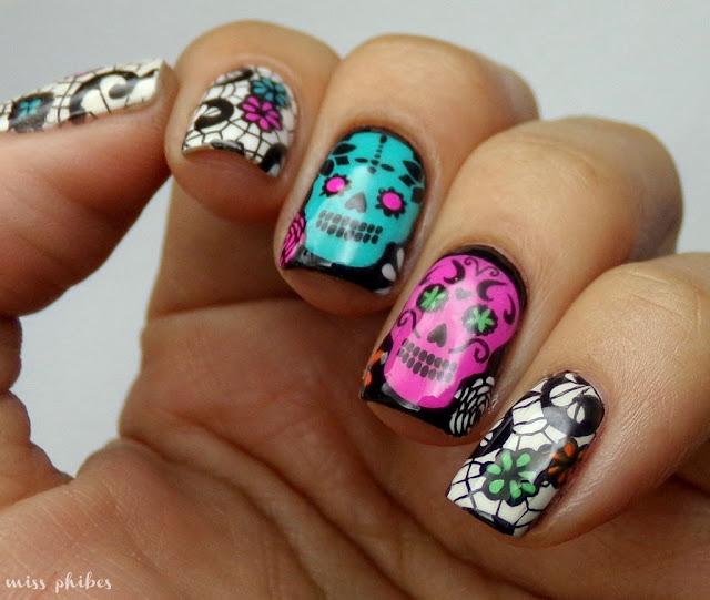 Nail Art Dia de los muertos