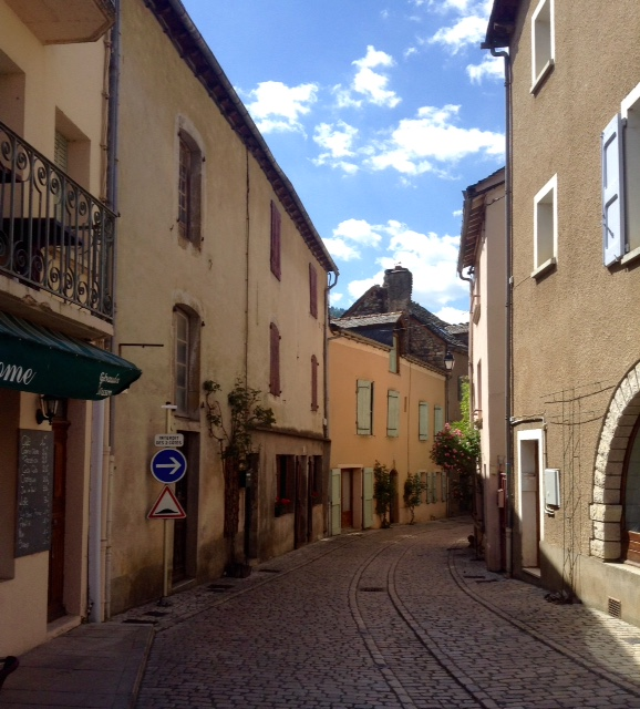 street in Ispagnac, France
