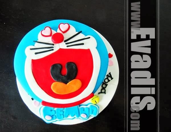 Full view of Doraemon cake