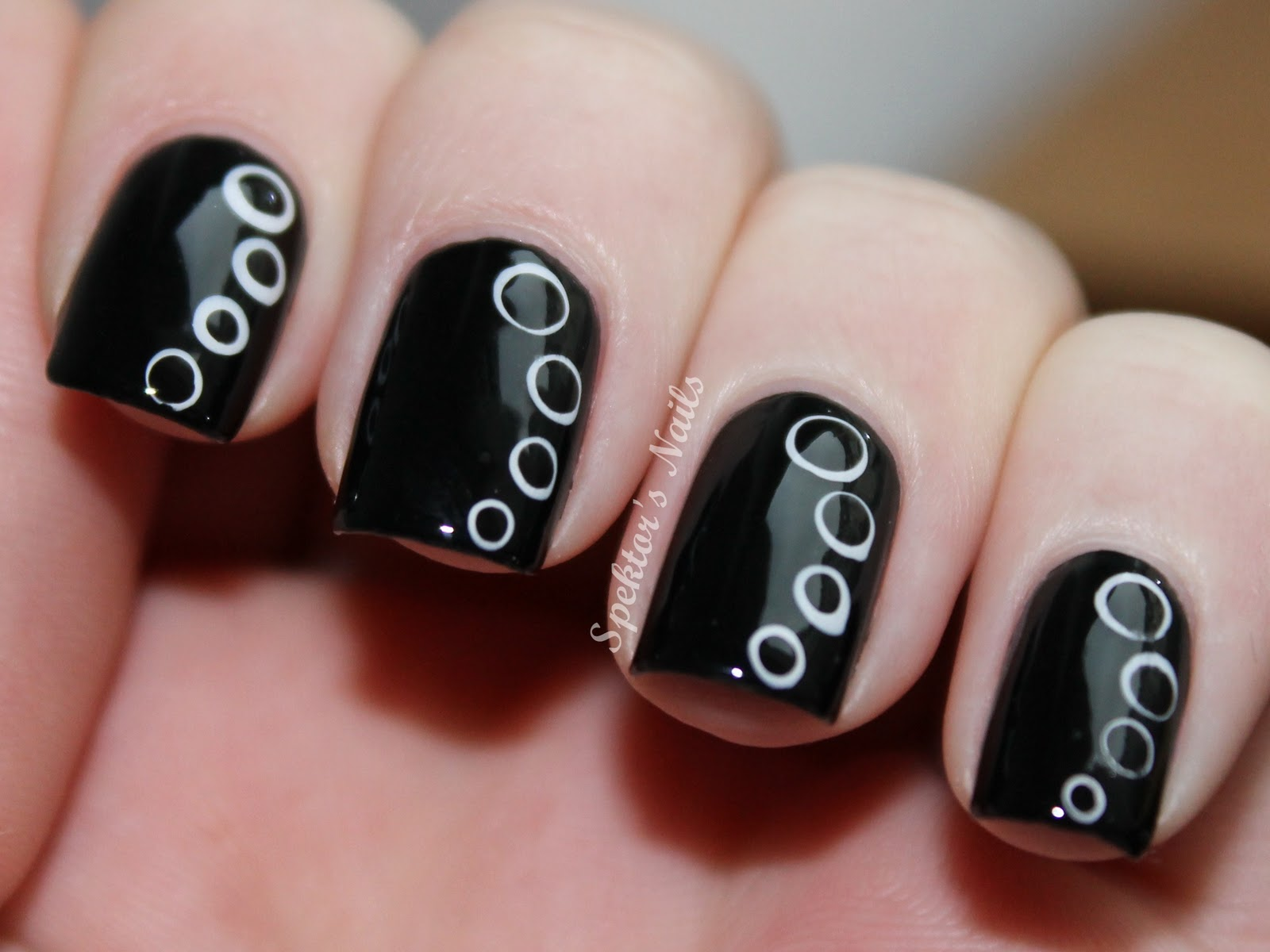 Nail Polish Ideas Black And White Hession Hairdressing