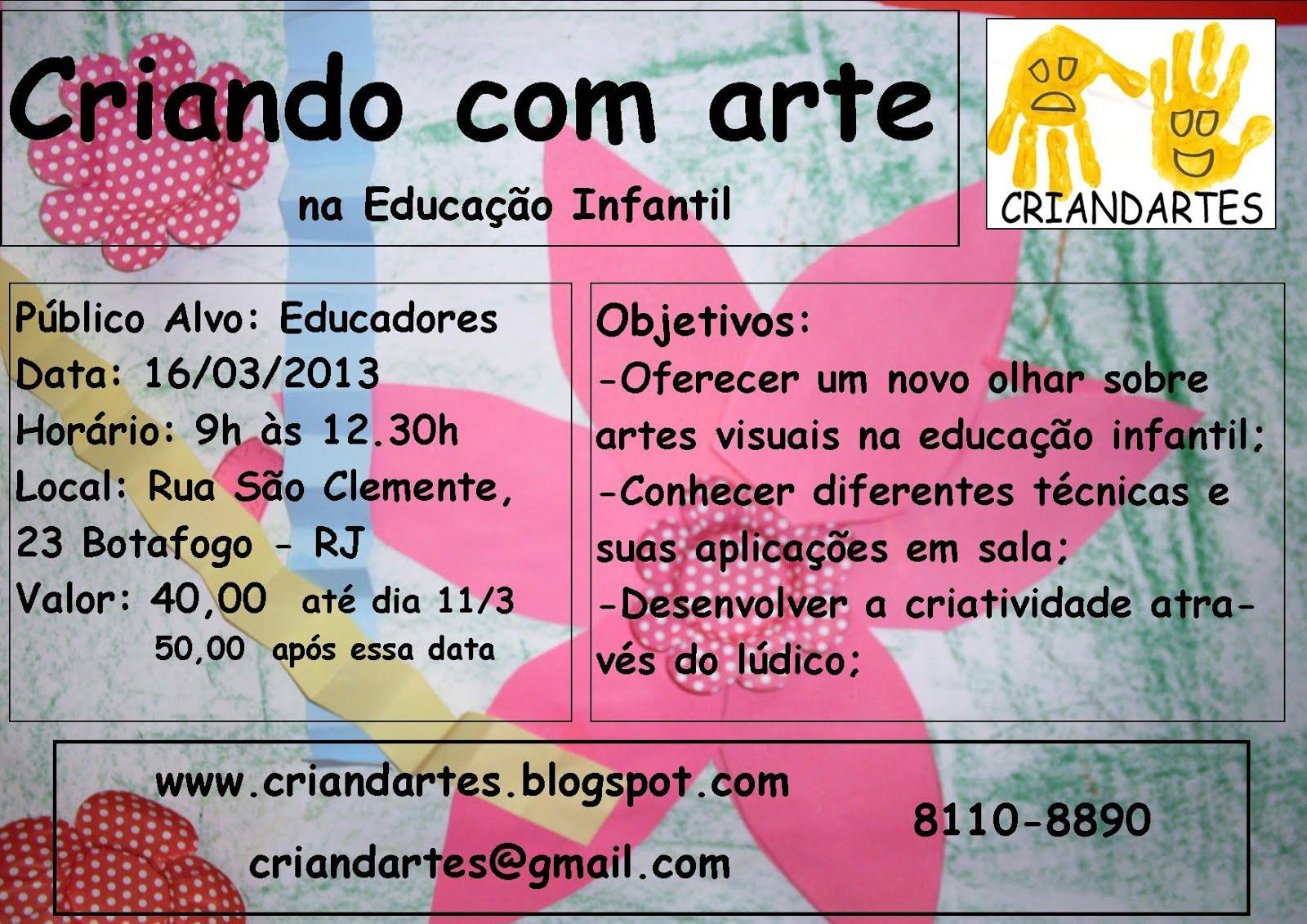 Conhecido CRIANDARTES: Criando com arte na Educação Infantil VJ15