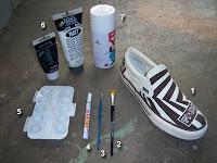 cara membuat sepatu lukis