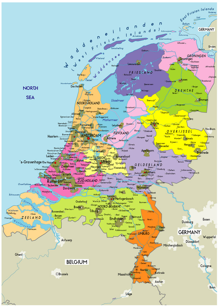 Netherlands Map Of The World