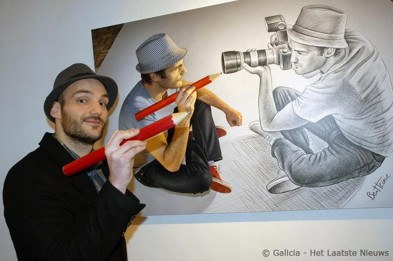 Artist Ben Heine for Het Laatste Nieuws - National newspaper in Belgium - 2014