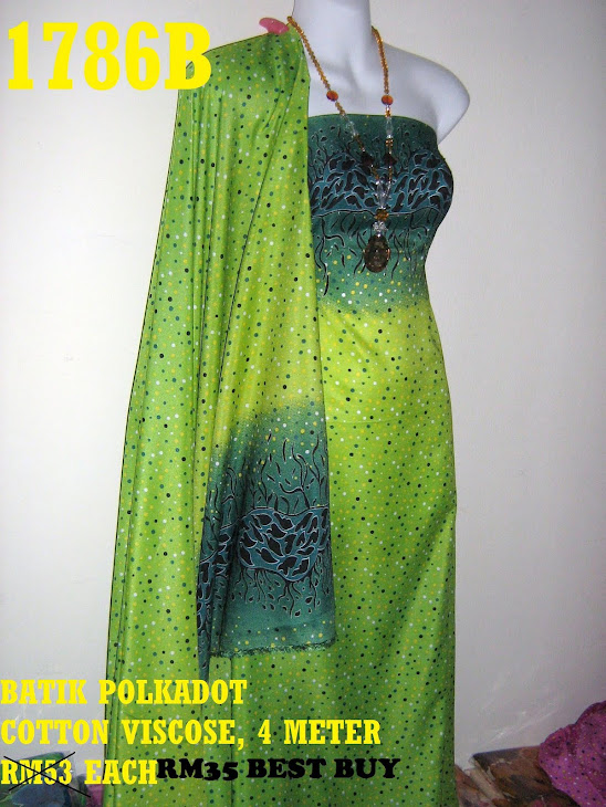BP 1786B: BATIK POLKADOT COTTON VISCOSE, 4 METER