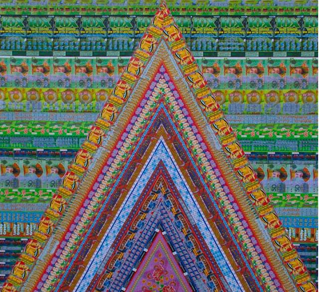 Arte usando bilhetes de raspadinha