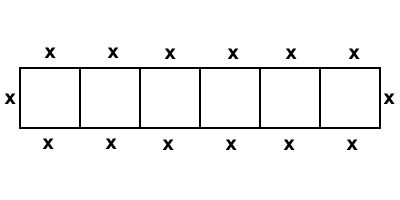 rectangle divided into 6 equal squares