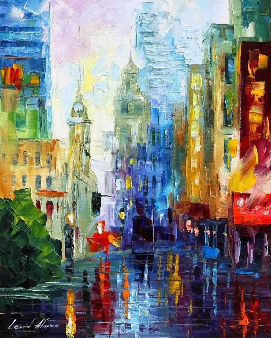 oleos-modernos-de-ciudades-pintadas-con-espatula