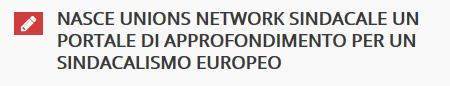 CAE Sindacalismo Europeo