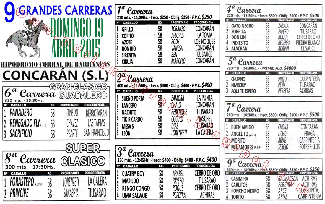 CONCARAN - 19 - PROGRAMA