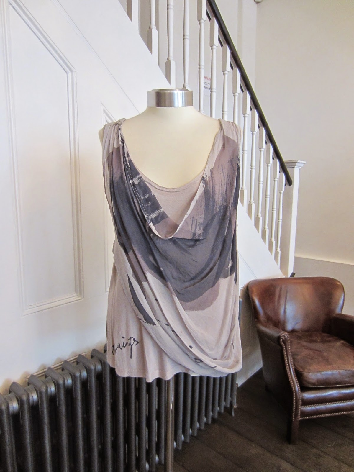 All Saints Grey Double Layer Top