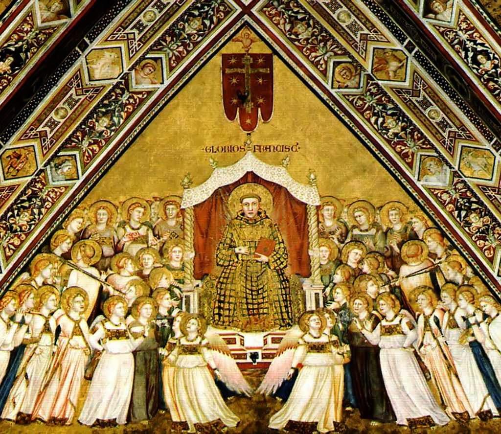 Glória de São Francisco, basílica inferior de Assisi