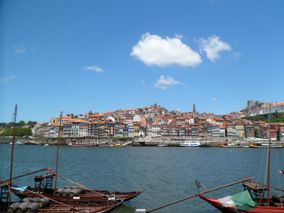 Porto's UNESCO protected riverbank view from Vila Nova da Gaia.