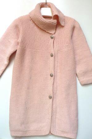 cappotto rosa maglia