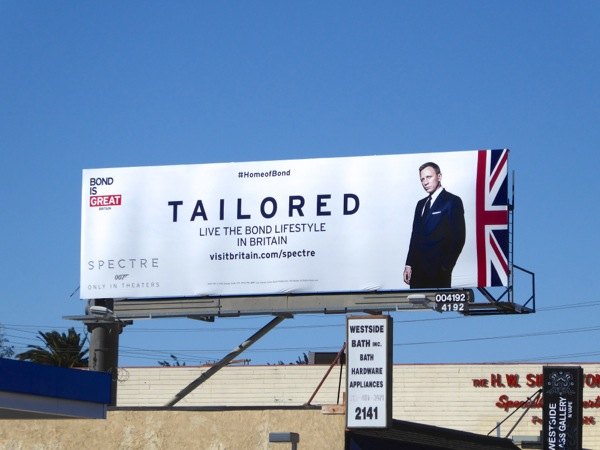 Tailored 007 Visit Britain billboard