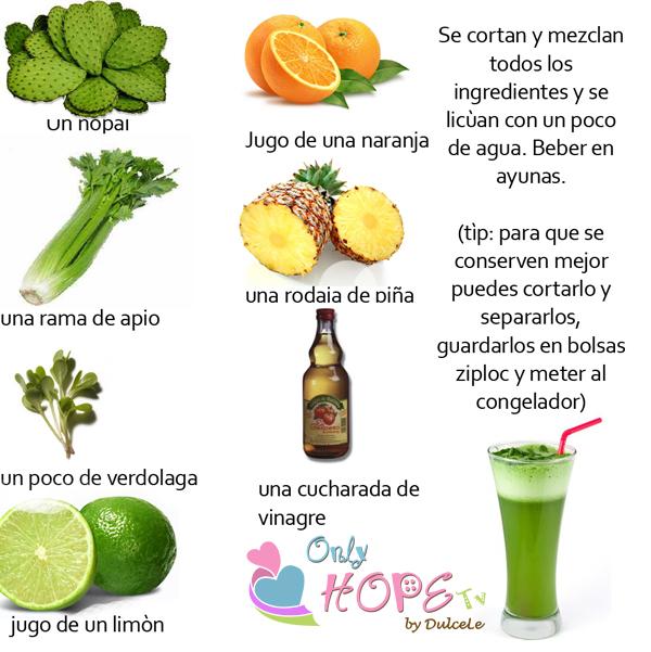 Only Hope Tv: Receta de la sopa quemagrasa y el licuado verde