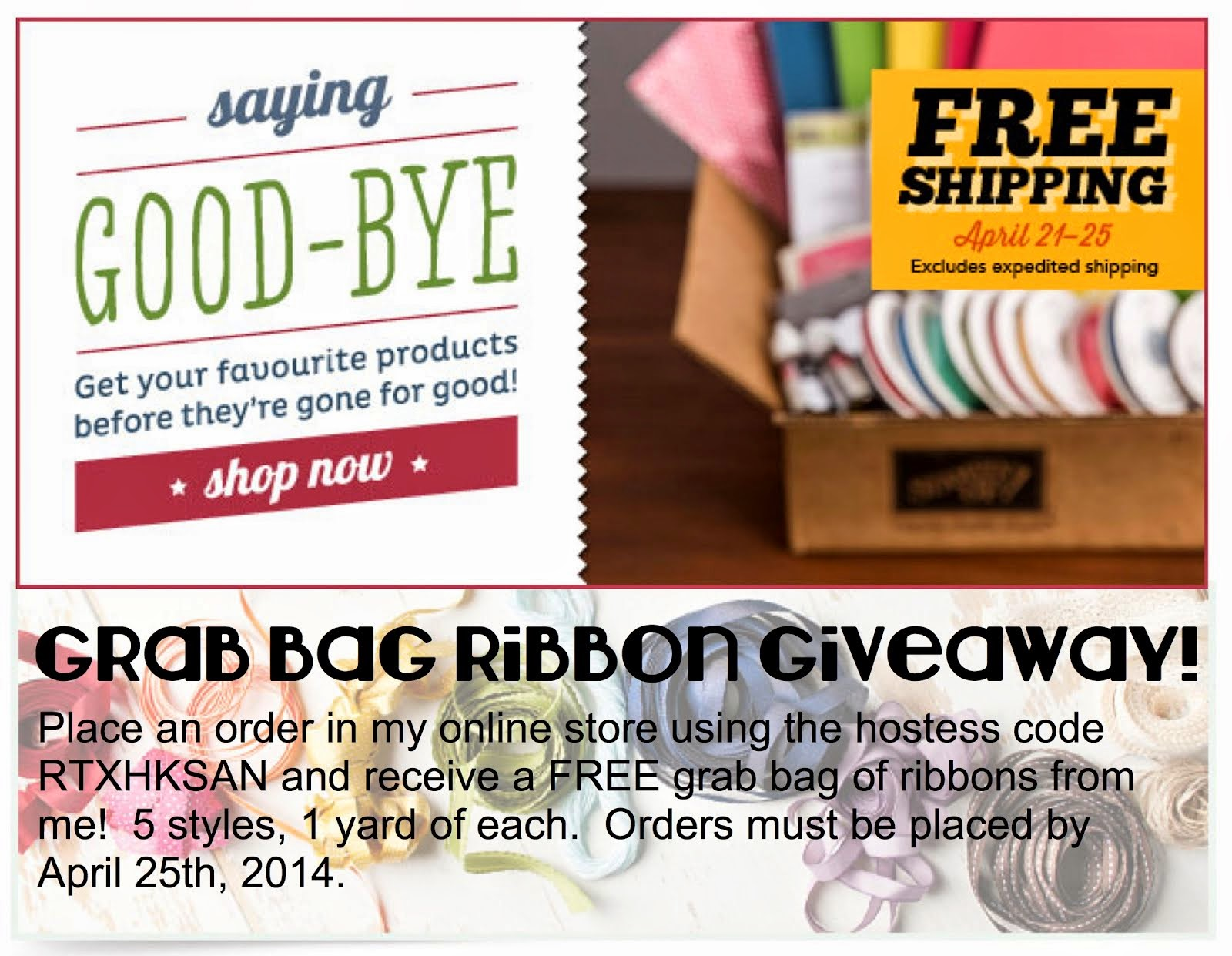 Retiring Products + FREE Shipping + FREE Ribbons = MEGA AWESOME!