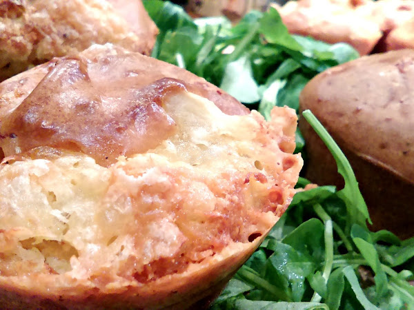 Muffins apéritifs reblochon coulant et lardons