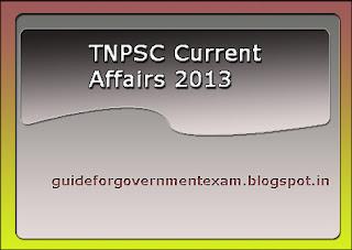TNPSC Current Affairs 2013