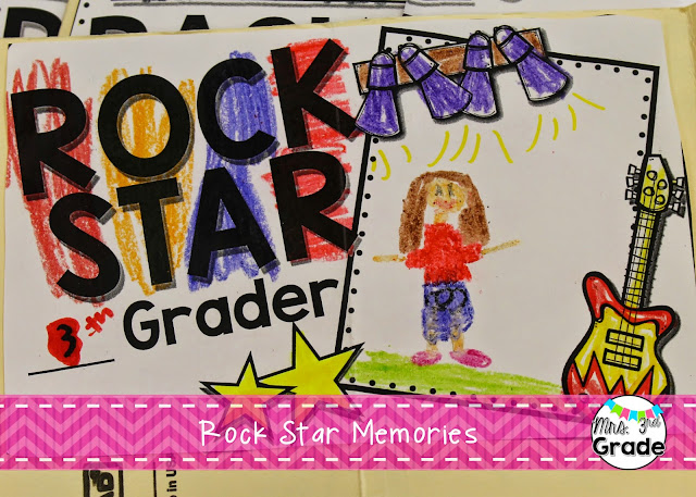Rock Star Memories book created by The Creative Classroom