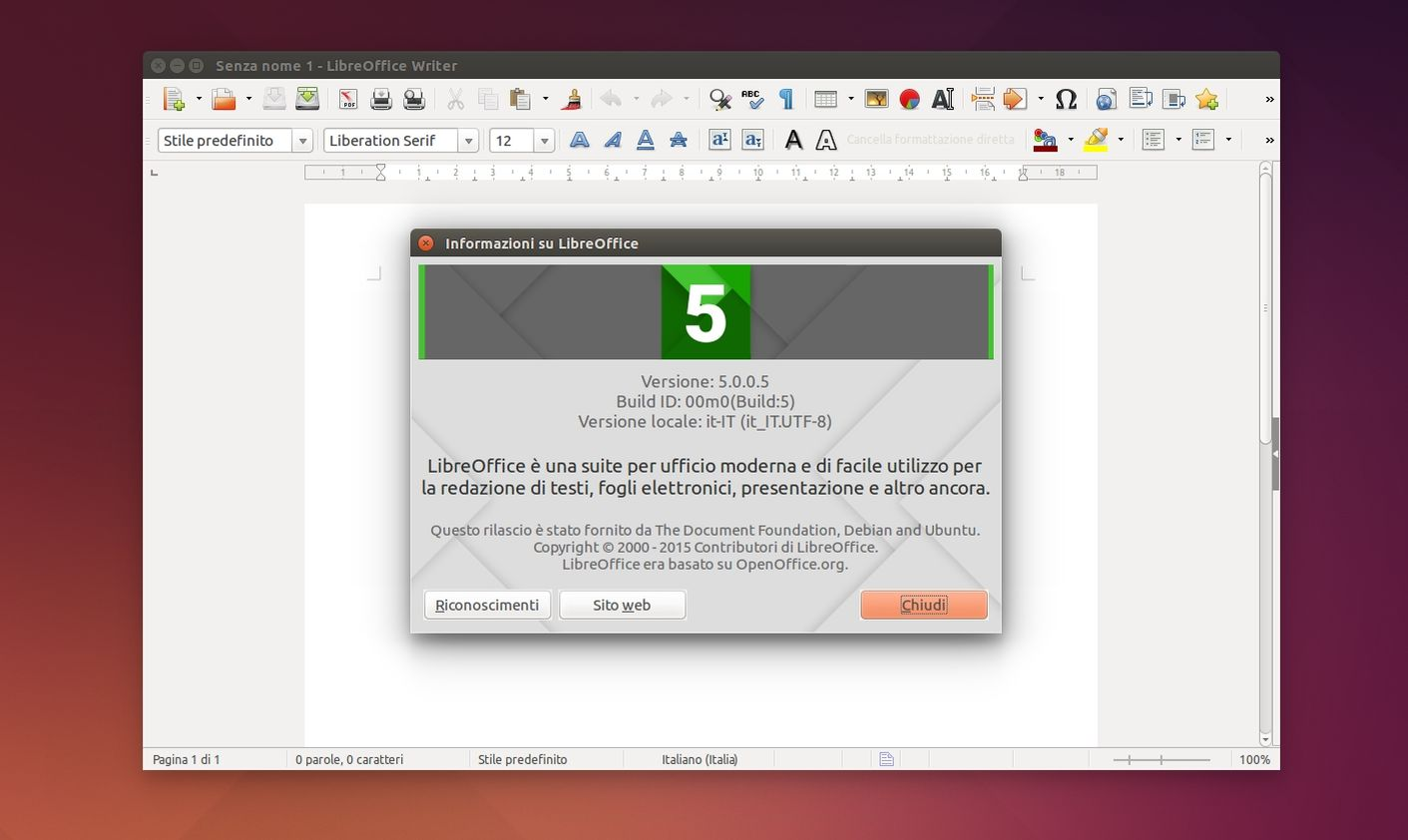 LibreOffice 5.0