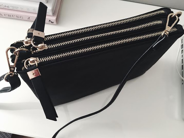 Celine Trio Dupe Black Oasis Three Zip Bag Evie Fashion Style Inspo Blogger Tumblr