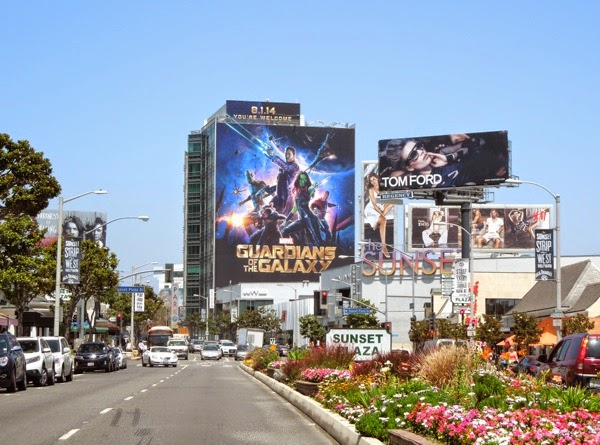 Giant Guardians of the Galaxy movie billboard