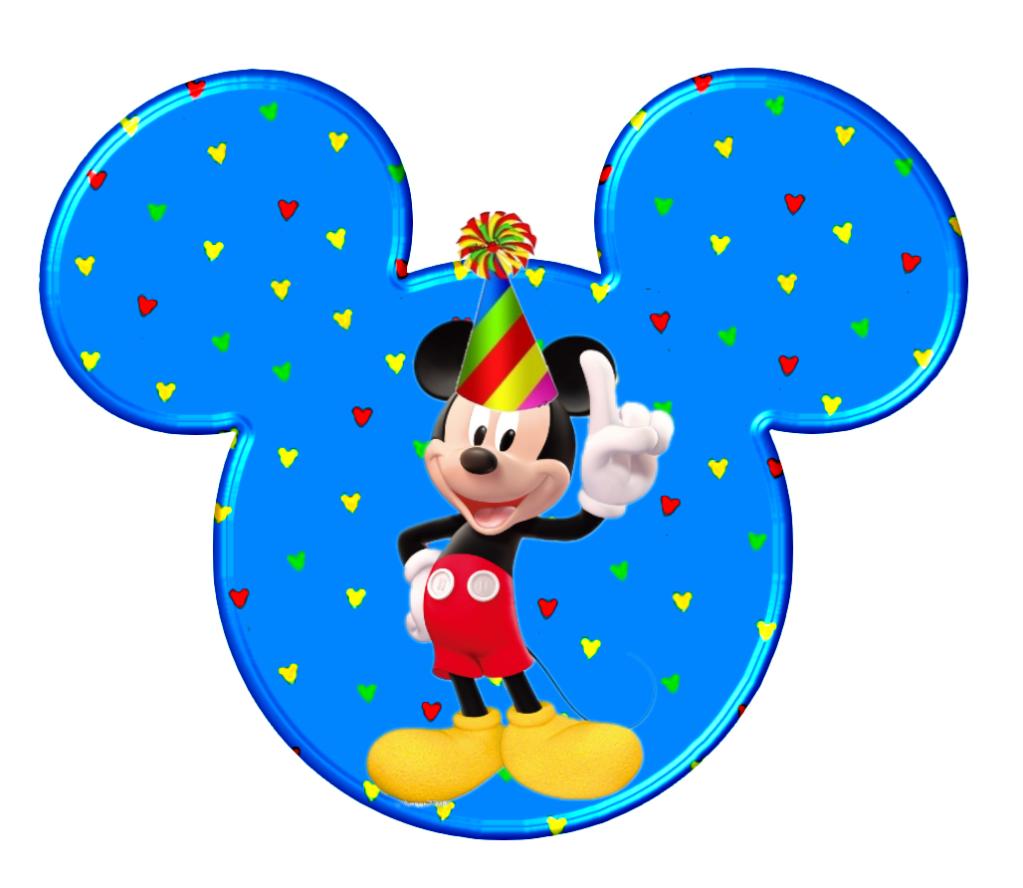 Cabezas De Mickey En Diferentes Posturas