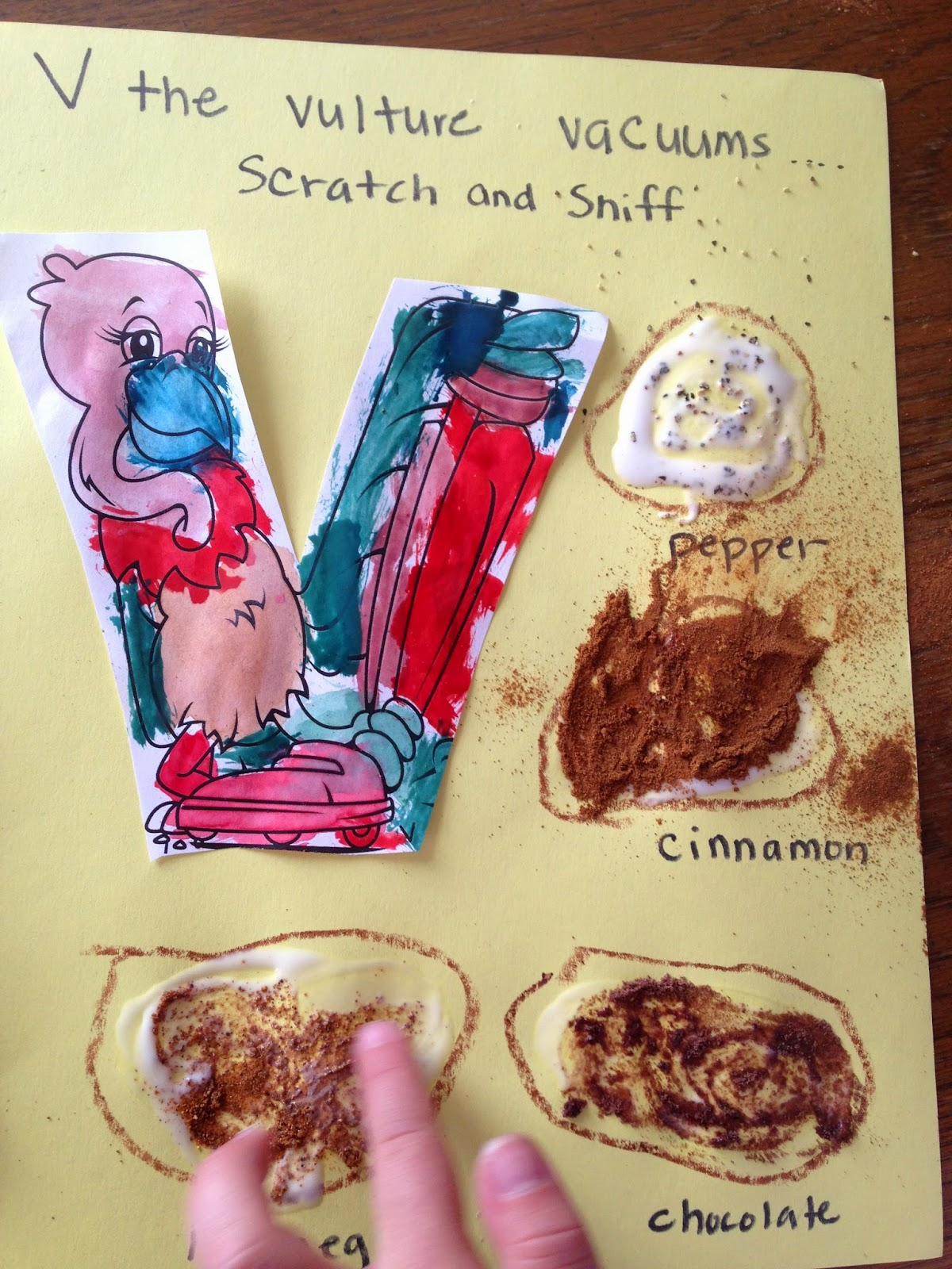 Scratch and sniff preschool V day