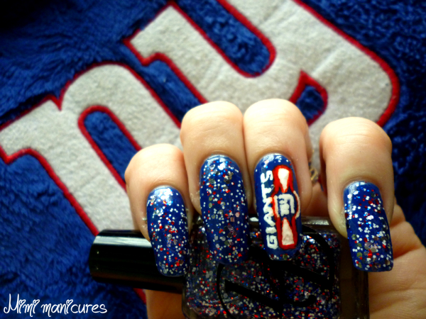 I Was Sitting There Last Night Deciding What Design To Do When Thought Would A Giants Logo On My Ring Finger And The Nfl Thumb