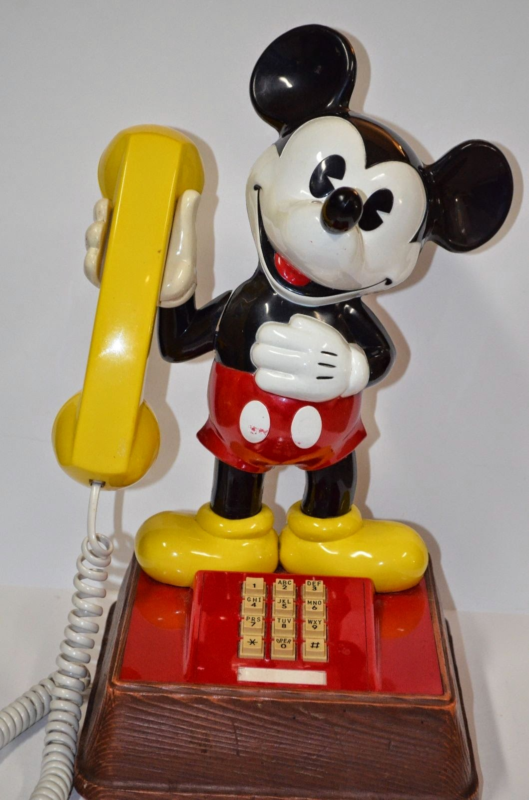 Vintage Disney The Mickey Mouse Phone Touchtone 70's Decorator Piece Kids Room