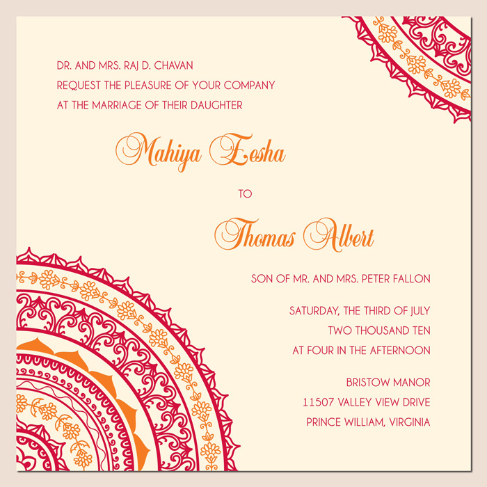 Wonderful weddings the invitation cards for different for Online indian e wedding invitations