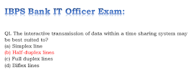 IBPS Bank IT Officer Exam Paper | Sample Paper 3