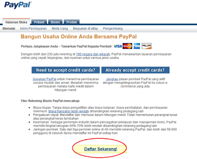 Daftar Rekening PayPal