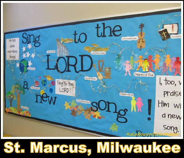 "photo of: ""Sing to the Lord a New Song"" Bulletin Board St. Marcus, Milwaukee"