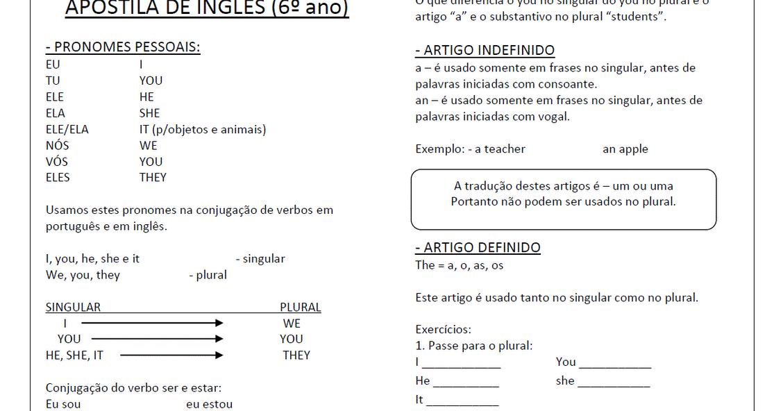 Muitas vezes JORNAL R 7ª: Atividades de Inglês 6° ano - Exercícios para imprimir KB61