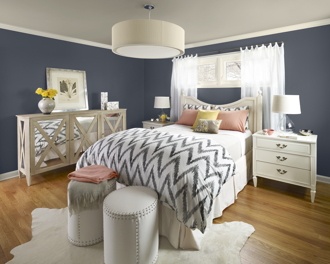 Delorme designs another favourite colour evening dove Decorating ideas for bedroom with gray walls