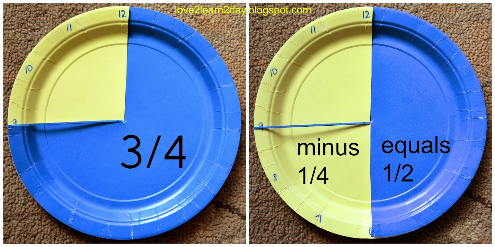 Students Use The Top Paper Plate Alongside A Rubber Band To Show The  Minuend (the Number They Start With In A Subtraction Problem)