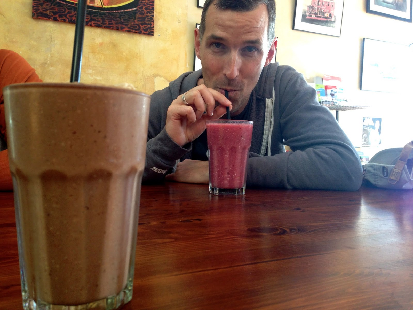 ChocoLavs and BerryRipe smoothies - Red Lime Shack, Port Adelaide